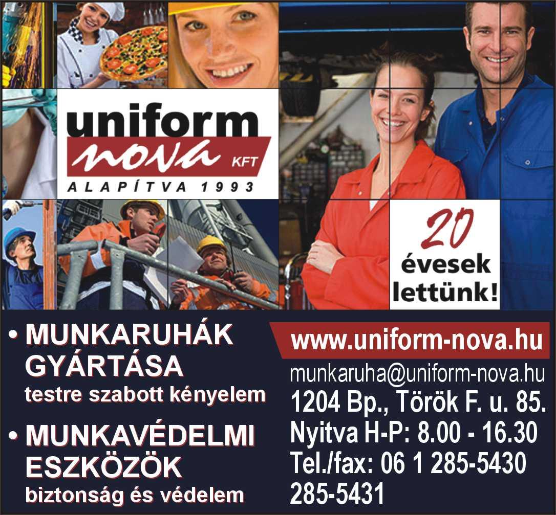 Uniform-Nova Kft. munkaruházat és munkavédelmi eszközök gyártása ... 9e52358cc8